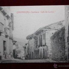 Postales: ANTIGUA POSTAL DE SANTILLANA. CANTABRIA. CALLE DEL CANTÓN. FOTPIA. CASTAÑEIRA. SIN CIRCULAR. Lote 45235650