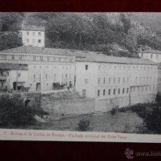 Postales: ANTIGUA POSTAL BALNEARIO DE CALDAS DE BESAYA. CANTABRIA. FACHADA PRINCIPAL DEL HOTEL TERAN. Lote 45272242