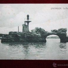 Postales: ANTIGUA POSTAL DE SANTANDER. CANTABRIA. LA PEÑA HORADADA. ED. A. FUENTES. ESCRITA. Lote 45290298