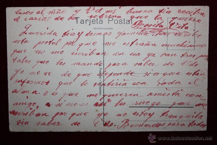 Postales: ANTIGUA POSTAL DE SANTANDER. CANTABRIA. LA PEÑA HORADADA. ED. A. FUENTES. ESCRITA - Foto 2 - 45290298