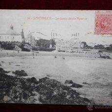 Postales: ANTIGUA POSTAL DE SANTANDER. CANTABRIA. SARDINERO DESDE MIRAMAR. CIRCULADA. Lote 45290568