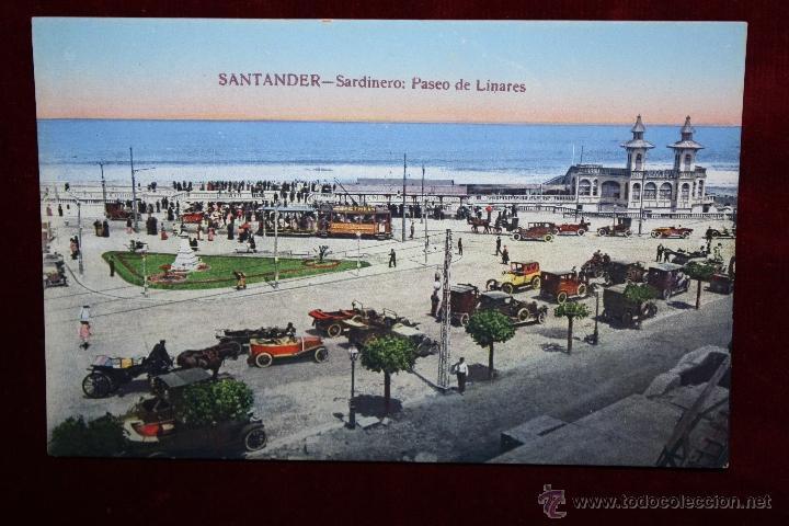 ANTIGUA POSTAL DE SANTANDER. CANTABRIA. SARDINERO,PASEO DE LINARES. FOTPIA. CASTAÑEIRA. SIN CIRCULAR (Postales - España - Cantabria Antigua (hasta 1.939))