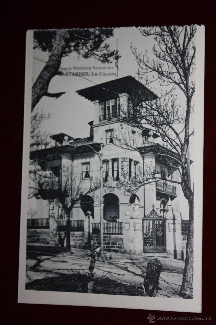 ANTIGUA POSTAL DE SANTANDER. CANTABRIA. LA CASUCA. FOTPIA. HAUSER Y MENET. SIN CIRCULAR (Postales - España - Cantabria Antigua (hasta 1.939))