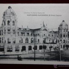 Postales: ANTIGUA POSTAL DE SANTANDER. CANTABRIA. SARDINERO, EL GRAN CASINO. HAUSER Y MENET. SIN CIRCULAR. Lote 45291048