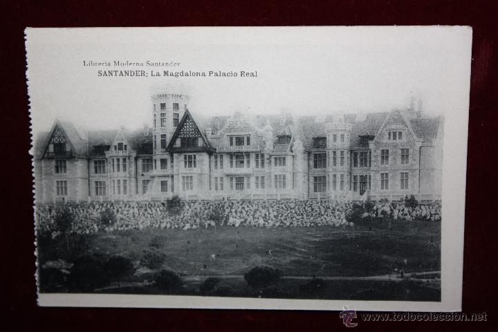 ANTIGUA POSTAL DE SANTANDER. CANTABRIA. LA MAGDALENA, PALACIO REAL. HAUSER Y MENET. SIN CIRCULAR (Postales - España - Cantabria Antigua (hasta 1.939))