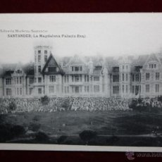 Postales: ANTIGUA POSTAL DE SANTANDER. CANTABRIA. LA MAGDALENA, PALACIO REAL. HAUSER Y MENET. SIN CIRCULAR. Lote 45291198