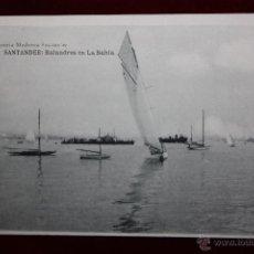 Postales: ANTIGUA POSTAL DE SANTANDER. CANTABRIA. BALANDROS EN LA BAHIA. FOTPIA. HAUSER Y MENET. SIN CIRCULAR. Lote 45291384