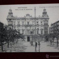 Postales: ANTIGUA POSTAL DE SANTANDER. CANTABRIA. REAL CLUB DE REGATAS. FOTPIA. HAUSER Y MENET. SIN CIRCULAR. Lote 45291825