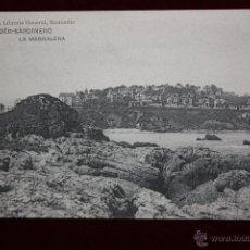 Postales: ANTIGUA POSTAL DE SANTANDER. CANTABRIA. SARDINERO, LA MAGDALENA. HAUSER Y MENET. SIN CIRCULAR. Lote 45292043
