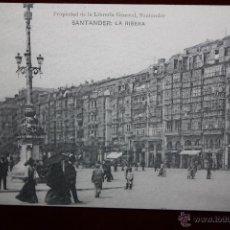 Postales: ANTIGUA POSTAL DE SANTANDER. CANTABRIA. LA RIBERA. HAUSER Y MENET. SIN CIRCULAR. Lote 54335048