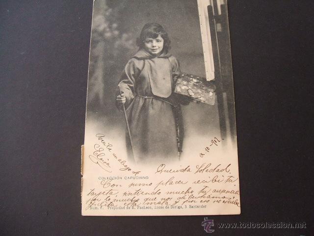 SANTANDER COLECCION CAPUCHINO Nº 6 PROPIEDAD DE R. PACHECO ARCOS DE DORIGA 3 SANTANDER 1902 CIRCULAD (Postales - España - Cantabria Antigua (hasta 1.939))