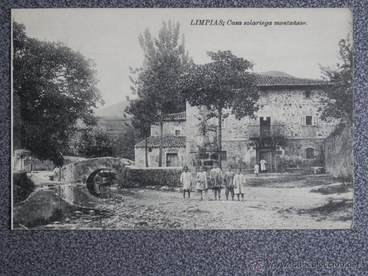 CANTABRIA LIMPIAS CASA SOLARIEGA MONTAÑESA (Postales - España - Cantabria Antigua (hasta 1.939))