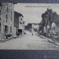 Postales: CANTABRIA LIMPIAS CALLE DE LA FUENTE DEL AMOR POSTAL ANTIGUA. Lote 45645075