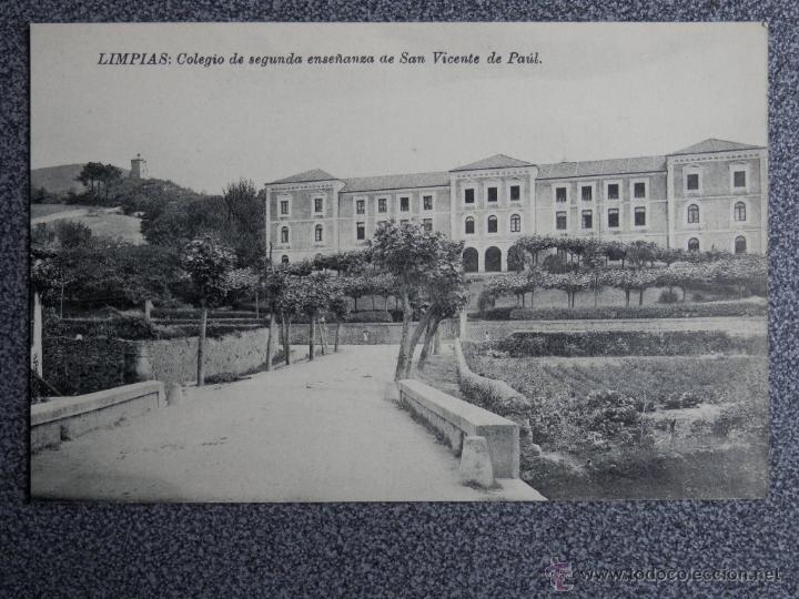 CANTABRIA LIMPIAS COLEGIO SAN VICENTE DE PAUL POSTAL ANTIGUA (Postales - España - Cantabria Antigua (hasta 1.939))