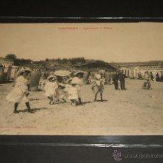 Postales: SANTANDER CANTABRIA SARDINERO PRIMERA PLAYA EDICION GUILLEN VALLADOLID Nº 16 ESCRITA EN 1910. Lote 45690264