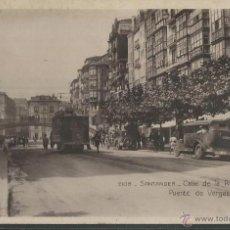 Postales: SANTANDER - CALLE DE LA RIVERA Y PUENTE DE VERGAS - P3380. Lote 45840200