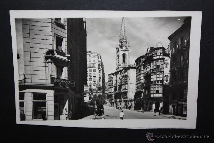 ANTIGUA FOTO POSTAL DE SANTANDER. SUBIDA DE SAN JOSE. ED. GARCIA CARRABELLA. CIRCULADA (Postales - España - Cantabria Antigua (hasta 1.939))