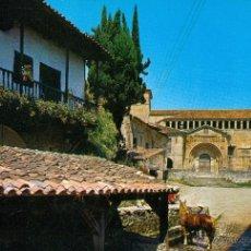 Postales: SANTILLANA DEL MAR (SANTANDER) LA COLEGIATA. Lote 46009437