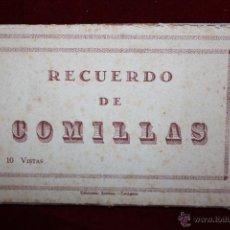 Postales: TIRA POSTAL RECUERDO DE COMILLAS. CANTABRIA. DIFERENTES VISTAS. ED. ARRIBAS. 10 POSTALES. Lote 46181413
