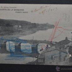 Postales: ANTIGUA POSTAL DE SAN VICENTE DE LA BARQUERA. CANTABRIA. PUENTE NUEVO. HAUSER Y MENET. CIRCULADA. Lote 46204877