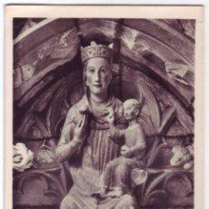 Postales: CASTRO URDIALES (CANTABRIA): IGLESIA DE SANTA MARÍA. VIRGEN ROMÁNICA. MANIPOL. NO CIRCULADA. AÑOS 50. Lote 46370285