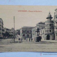 Postales: SANTANDER.- PARQUE DE BOMBEROS.. Lote 46375777