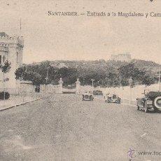 Postales: Nº 15885 POSTAL SANTANDER CANTABRIA ENTRADA A LA MAGDALENA Y CAMPO DE TENIS. Lote 46625587
