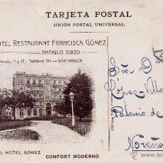 Postales: SANTANDER.- GRAND HOTEL RESTAURANT FRANCISCA GÓMEZ. Lote 47277260