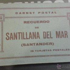 Postales: CARNET POSTAL. RECUERDO DE SANTILLANA DEL MAR. SANTANDER. 15 POSTALES. MATEU. COMPLETO.. Lote 48463594