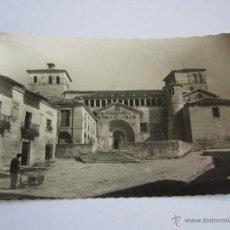 Postales: ANTIGUA POSTAL 1 SANTILLANA SANTANDER PORTADA DE LA COLEGIATA ED.GARCIA GARRABELLA, CIRCULADA 1963. Lote 49321770