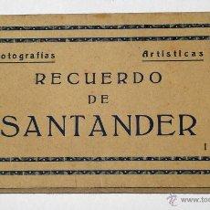 Postales: ANTIGUO ÁLBUM DE POSTALES RECUERDO DE SANTANDER - I - FOTOGRAFÍAS ARTÍSTICAS ED- ARRIBAS 10 POST.. Lote 49895817