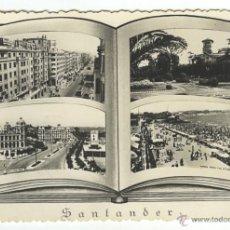 Postales: POSTAL SANTANDER CON 4 VISTAS. MATASELLOS GUERNICA 1955. Lote 50423658