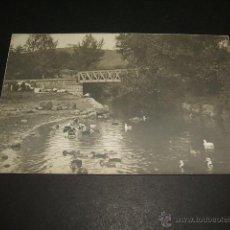 Postales: SANTA ISABEL DE QUIJAS CANTABRIA POSTAL FOTOGRAFICA HACIA 1910 PUENTE FERROCARRIL VIA ESTRECHA. Lote 50480430