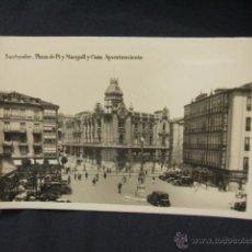 Postales: POSTAL - SANTANDER - PLAZA DE PI Y MARGALL Y CASA AYUNTAMIENTO - . Lote 50513134