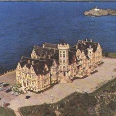 Postales: VISTA AÉREA DEL PALACIO DE LA MAGDALENA EN SANTANDER. Lote 50908984