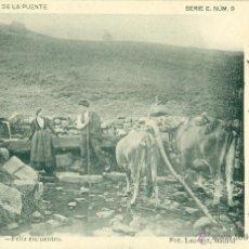 Postales: PEÑAS ARRIBA. FELIZ ENCUENTRO. FIRMADA POR EL EDITOR JULIO GARCÍA DE LA PUENTE. CIRCULADA EN 1903.. Lote 51162967
