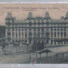 Postales: TARJETA POSTAL DE SANTANDER, CANTABRIA - PLAZA DE AUGUSTO LINARES Y GRAN HOTEL EN EL SARDINERO. 31.. Lote 51238115