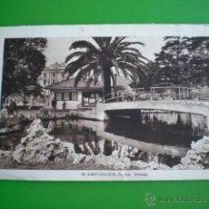 Postales: POSTAL ANTIGUA SANTANDER PARQUE PEREDA ORIGINAL ANIMADA SIN CIRCULAR. Lote 51317121