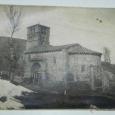 Postales: FOTOGRAFIA DE REINOSA, CANTABRIA, COLEGIATA DE CERVATOS (MONUMENTO NACIONAL), MIDE 23 X 16,8 CMS.. Lote 51352746