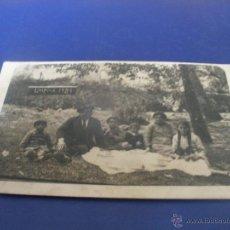Postales: CURIOSA FOTO POSTAL ,FAMILIA MERENDANDO-LIMPIAS 1921- CANTABRIA.. Lote 52782112