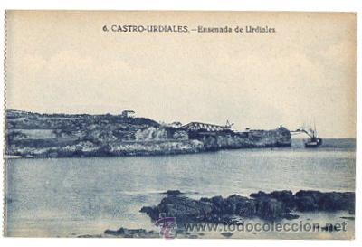 TARJETA POSTAL CASTRO URDIALES. ENSENADA DE URDIALES. Nº 6. EDICIONES CASA FÉLIX (Postales - España - Cantabria Moderna (desde 1.940))