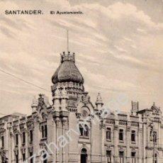 Postales: ANTIGUA POSTAL DE SANTANDER - AYUNTAMIENTO - ED. CASA FUERTES - NO CIRCULADA. Lote 53330726