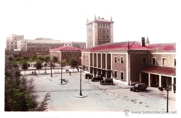 SANTANDER - ESTACION DE LA RENFE - ED. GARCIA GARABELLA - Nº14-SIN CIRCULAR - COLOREADA DE ACORDEON (Postales - España - Cantabria Moderna (desde 1.940))