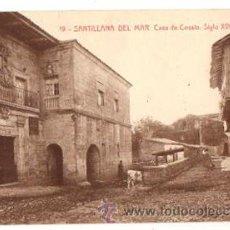 Postales: TARJETA POSTAL SANTILLANA DEL MAR. CASA DE COSSIO. SIGLO XVII. Nº 19. FOTOTIPIA THOMAS. Lote 53766301