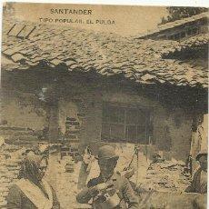 Postales: SANTANDER, TIPO POPULAR EL PULGA. POSTAL SIN CIRCULAR. Lote 54380462