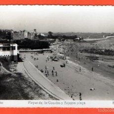 Postales: SANTANDER - PLAYA DE LA CONCHA Y PRIMERA PLAYA. Lote 56715026