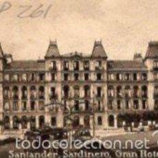 Postales: POSTAL ORIGINAL DECADA 1930, SANTANDER, SARDINERO, GRAN HOTEL. LEER, VER TAMAÑO Y EXPLIC.. Lote 56744953