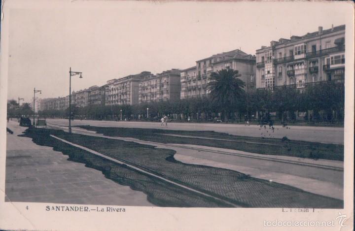 POSTAL 4- SANTANDER. LA RIVERA. CIRCULADA. (Postales - España - Cantabria Moderna (desde 1.940))