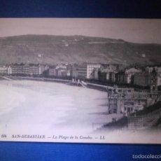 Postales: POSTAL - ESPAÑA - SANTANDER - 194 LA PLAYA DE LA CONCHA - LL - LEVY ET NEURDEIN - NUEVA. Lote 56969814