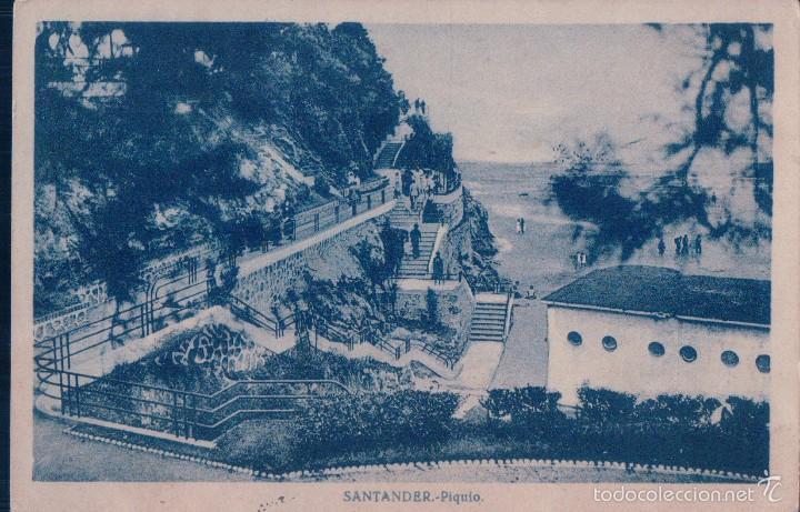 POSTAL SANTANDER- PIQUIO. CIRCULADA. (Postales - España - Cantabria Antigua (hasta 1.939))